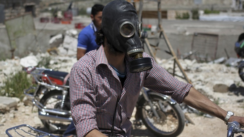 Activists claim evidence of Syria gas attack