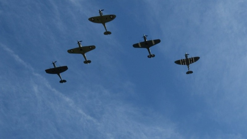 Flypast marks the Battle of Britain