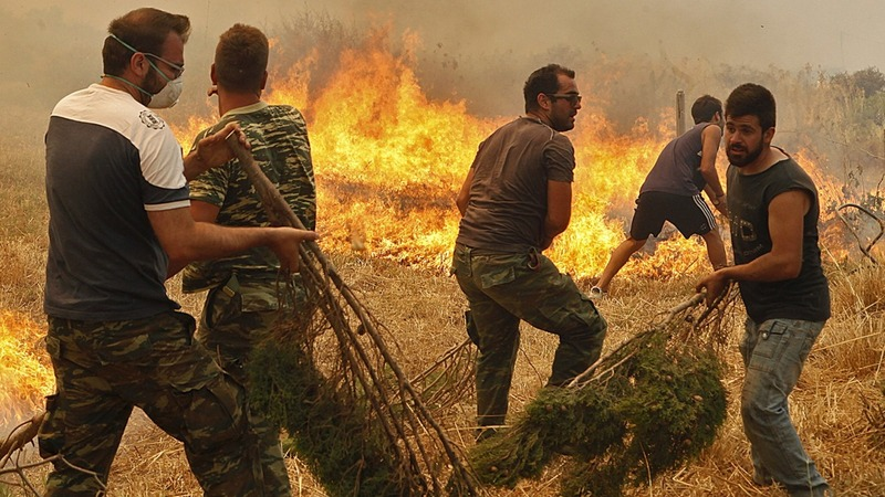 Now Athens battles forest fires too