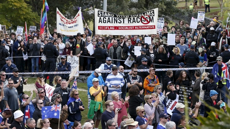 Scuffles blight Sydney rallies