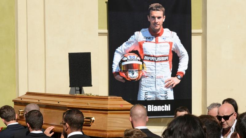 F1 bids farewell at Jules Bianchi funeral
