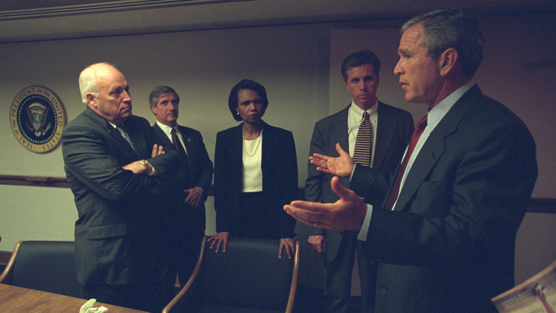 Newly released photos show Bush on 9/11
