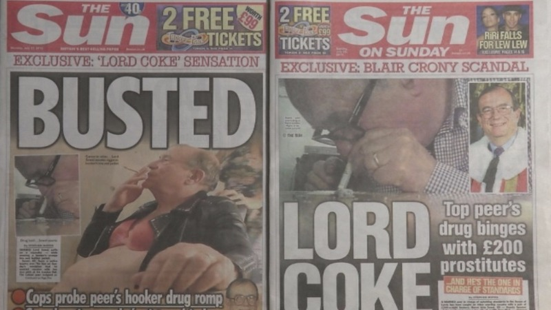 British lord quits post after drugs video