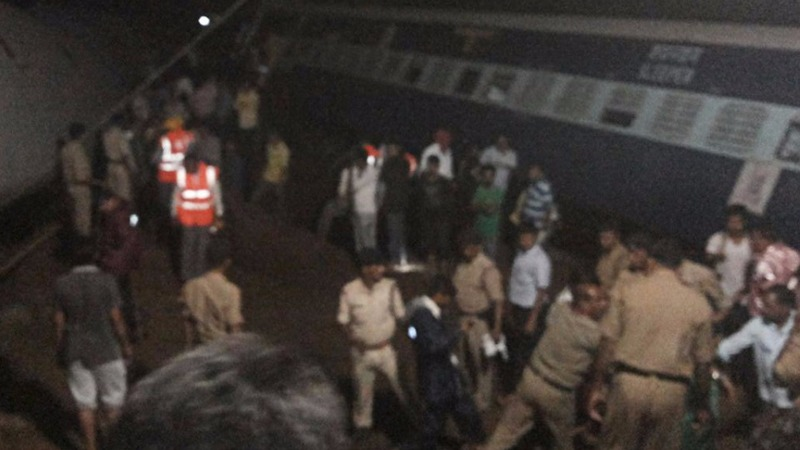 Two deadly train crashes after Indian floods