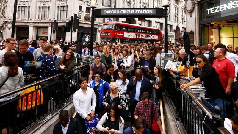 London at a halt as tube unions strike again