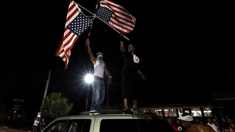 Cops change tactics as Ferguson protests return