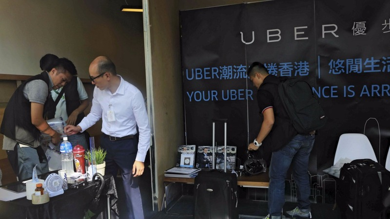 Uber offices raided by Hong Kong police
