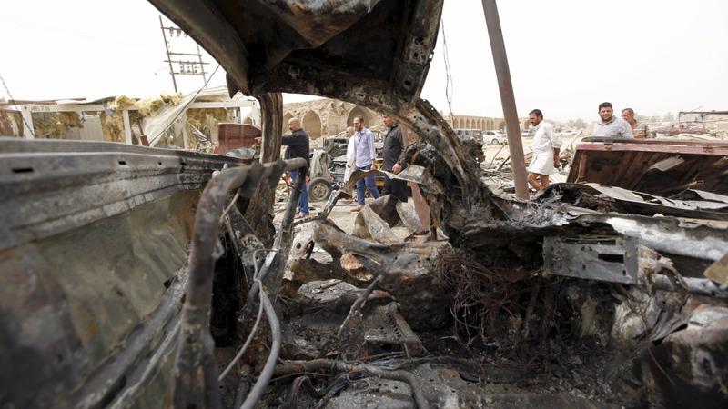 Dozens killed in Baghdad market blast