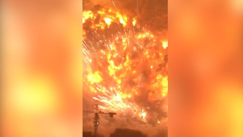 VERBATIM: Amateur video captures Tianjin blast