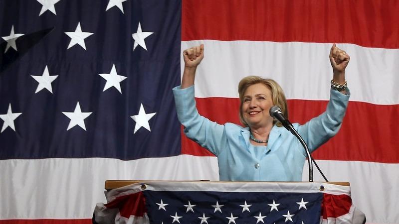 Verbatim: Clinton laughs off e-mail inquiry