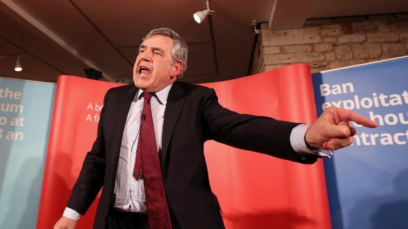 Brown breaks silence on Labour leadership