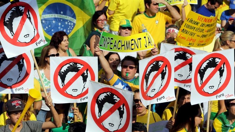 Protests vent frustration over Brazil crisis