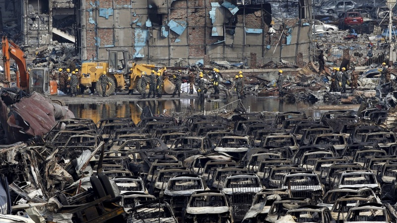 Unlicensed chemicals at Tianjin blast site