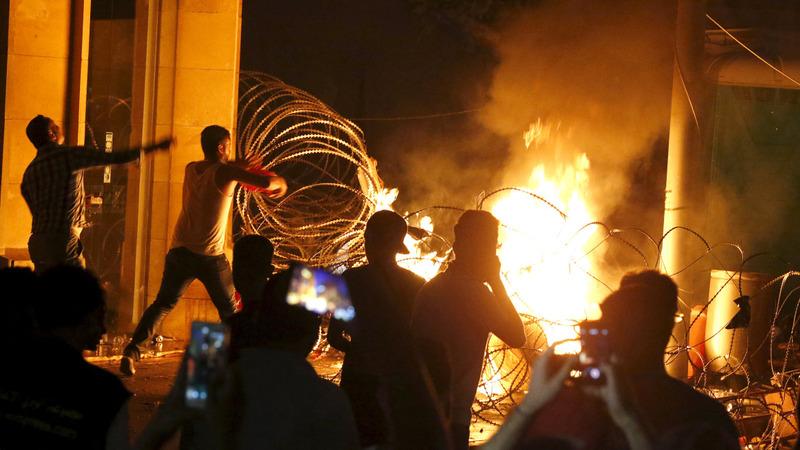 Protests turn violent in Beirut