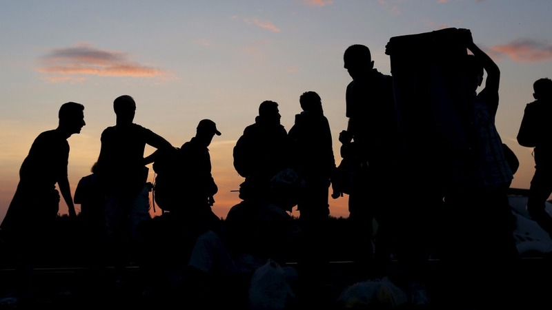 Migration trail: Night march into Hungary
