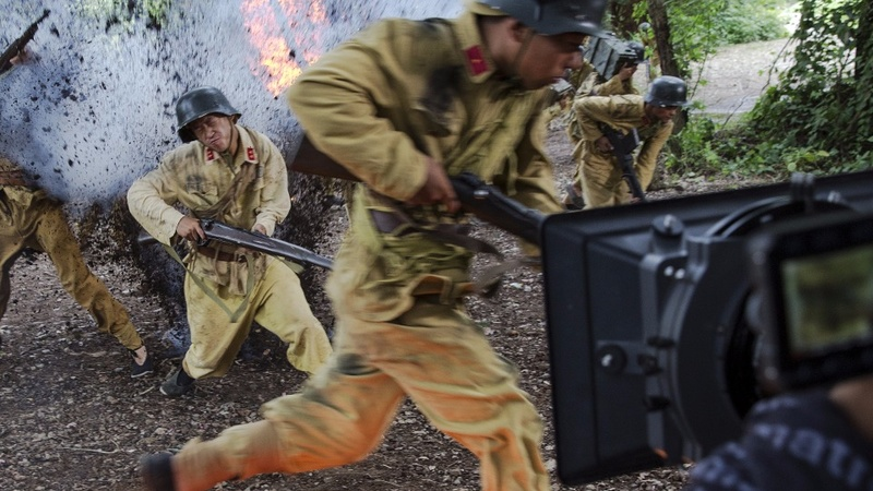 Behind the scenes of an anti-Japan war drama