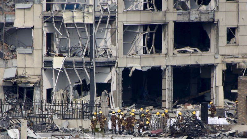 China detains 12 over the Tianjin blasts