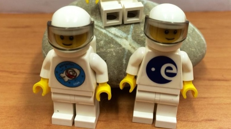 Lego launches into space