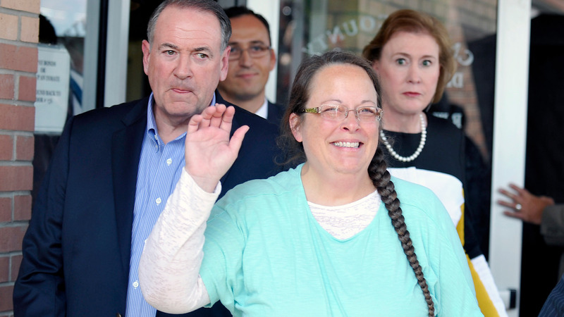 County clerk speaks after release from jail
