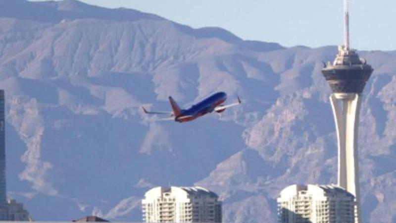 British Airways jet catches fire in Las Vegas