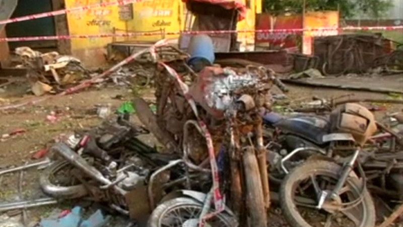 Indian police hunt for suspect after blasts