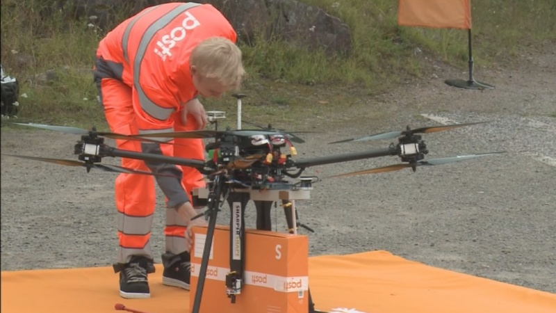 Finnish post tests drone for deliveries
