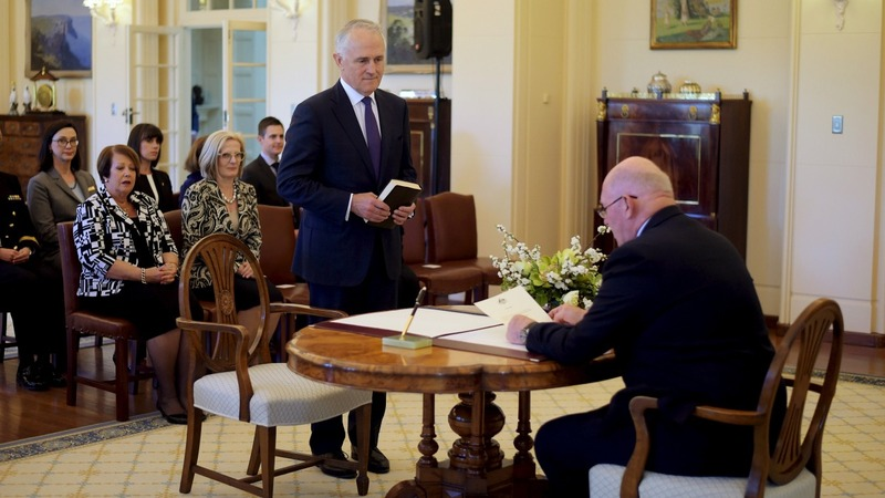 Australia swears in Malcolm Turnbull