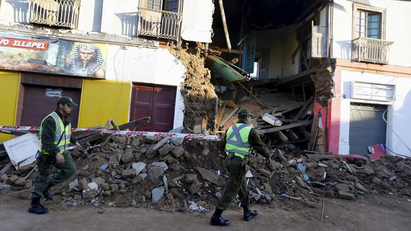 Aftershocks rattle Chile after 8.3-magnitude quake
