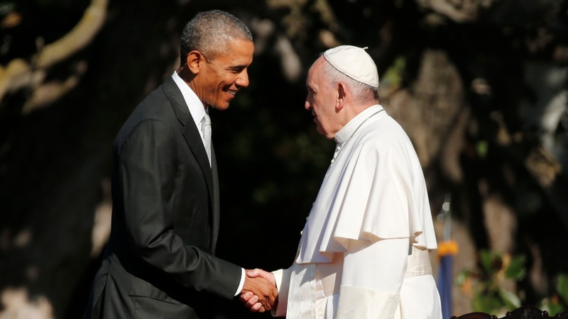 VERBATIM: Obama welcomes Pope to White House