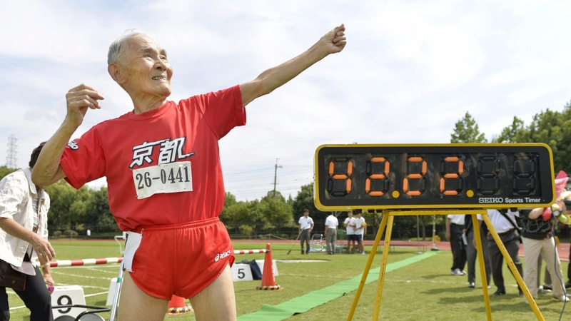 Japan's 105-year-old sprinter sets record