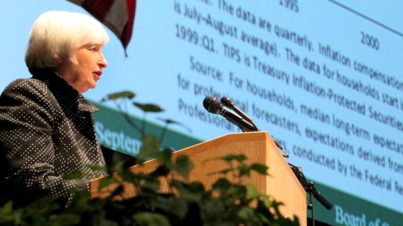VERBATIM: Yellen struggles to finish speech