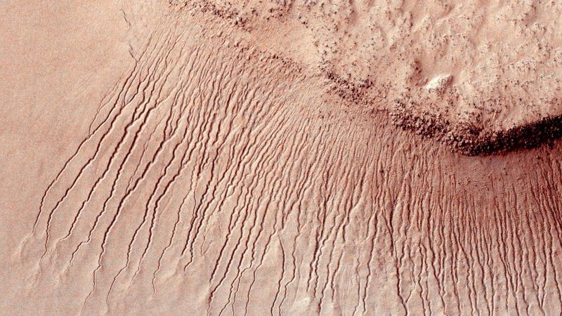 Water flows on Mars -NASA