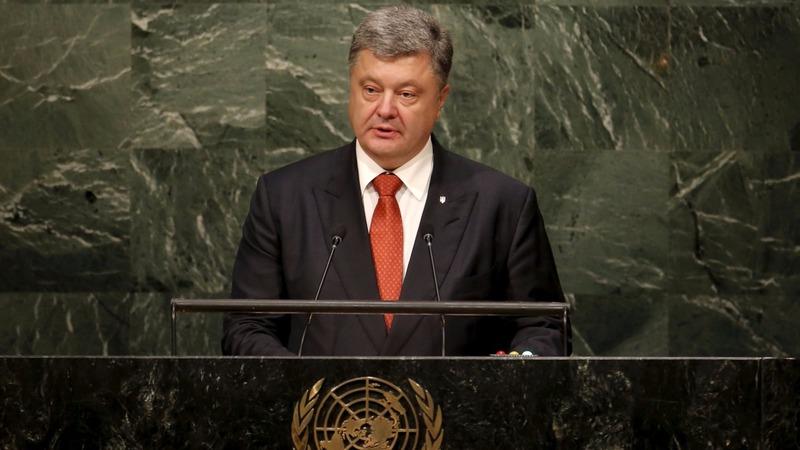 Ukraine President says Russia financing terrorists