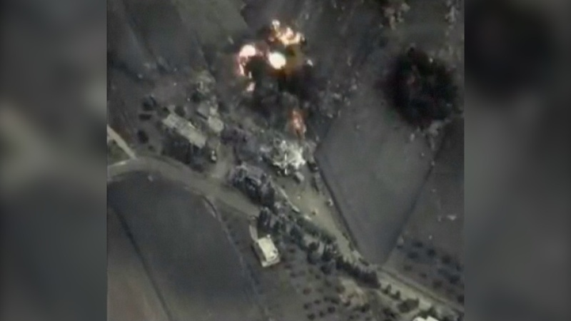 Russia releases video of Syria strikes