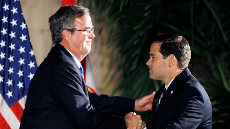 Bush-Rubio bromance on the rocks