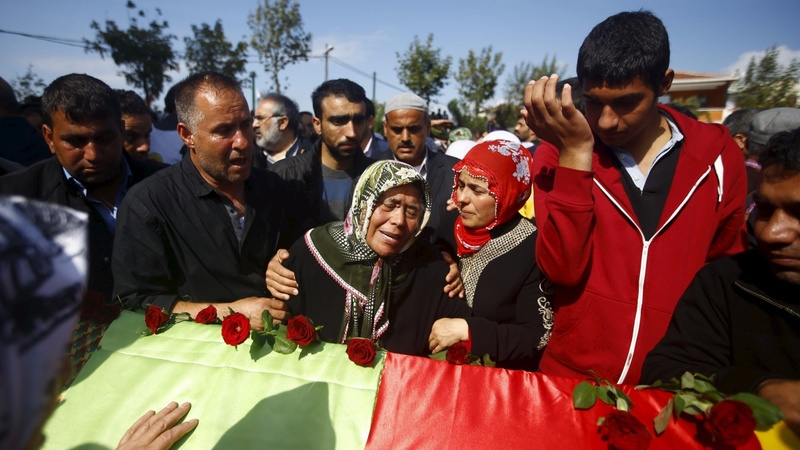 Funerals held for Turkey bomb attack victims