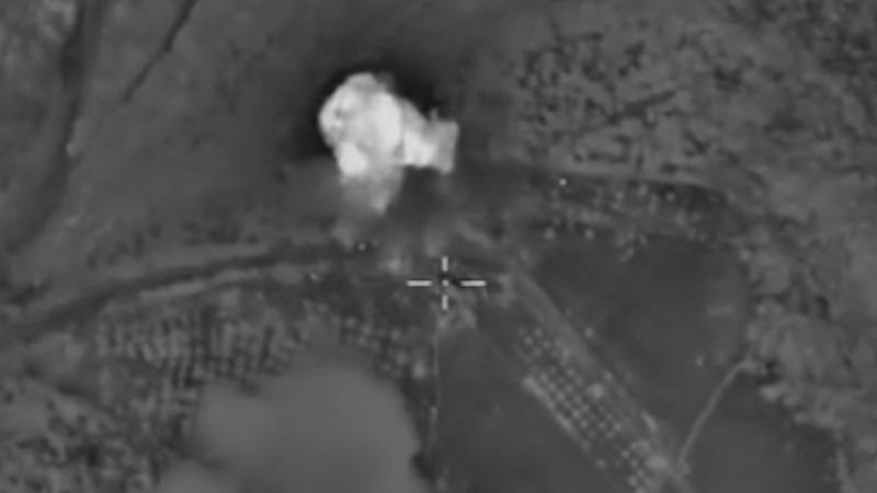 Russian air strikes 'hit rebel leader'