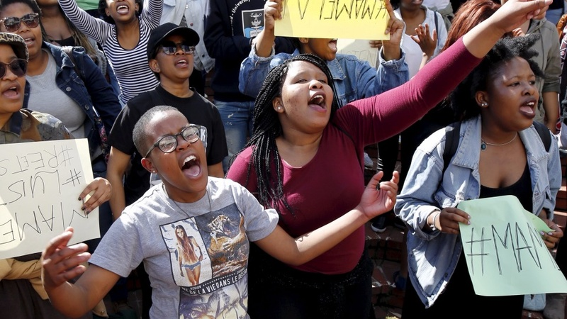 South Africa students protest 'segregating' fees