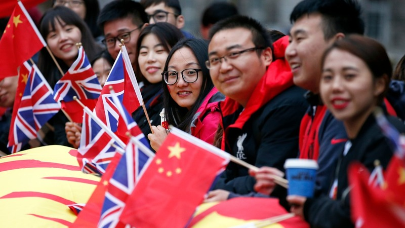 China's president wraps up trip in Manchester