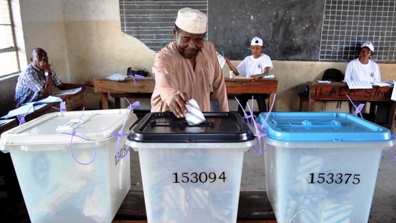 Tanzanians vote in hotly contested poll