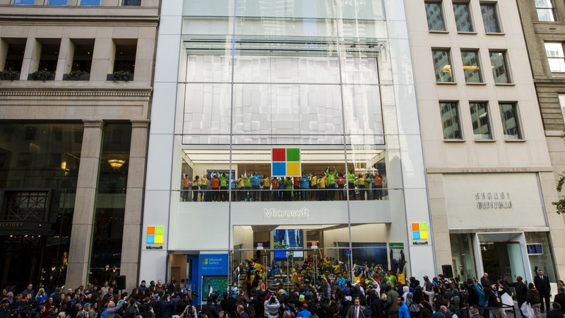 Microsoft opens doors in NYC shopping mecca