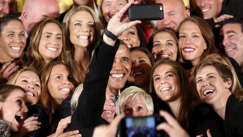 Obama: playing like a girl is 'badass'