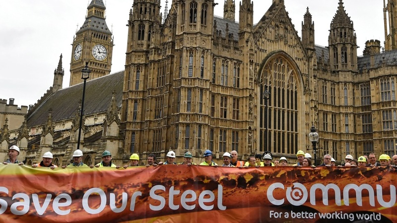 Steelworkers descend on Westminster