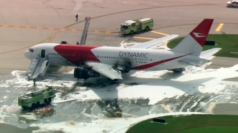 Plane catches fire at Fort Lauderdale airport