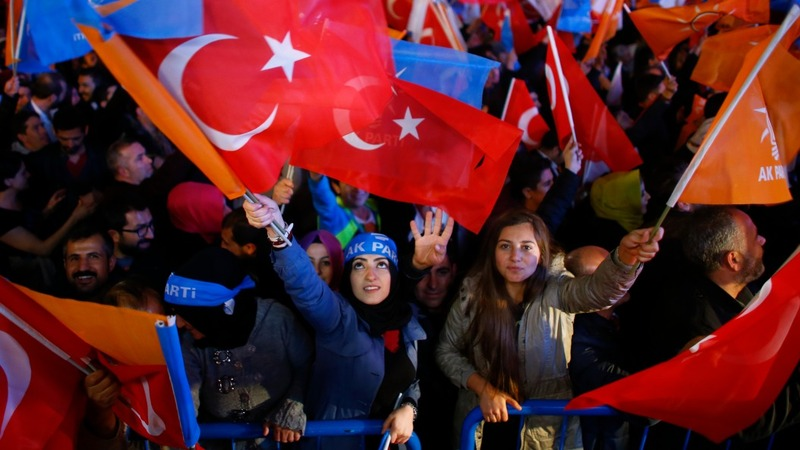Erdogan claims victory in Turkish election