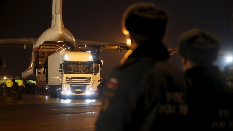 Plane crash victims flown home to Russia