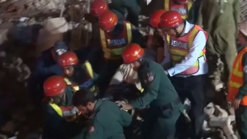 Pakistan factory collapse kills at least 18