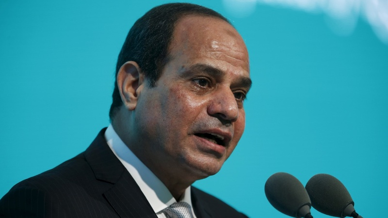 Protests over Cameron's welcome of Sisi