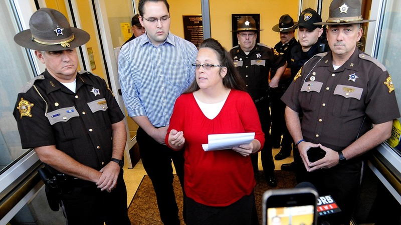 Kim Davis finds a friend in new Kentucky governor