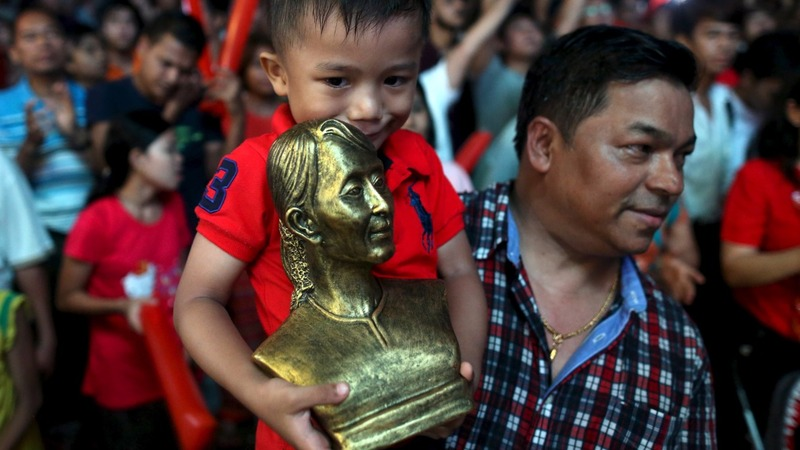 Suu Kyi's supporters certain of victory